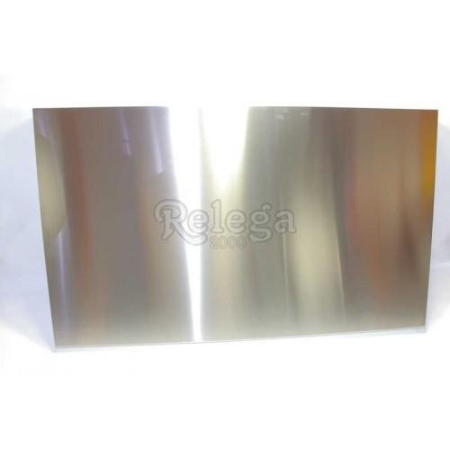 Cubre-encimera para cocina de gas de acero lisa satinado 70 cm
