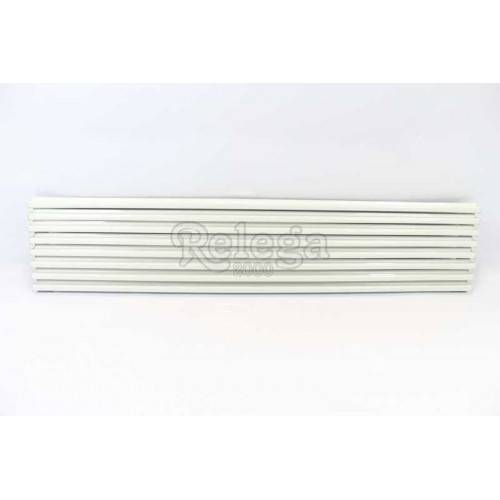 Rejilla ventilación aluminio blanca 60cm, 8v
