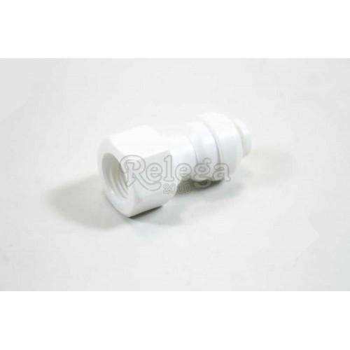 Racord recto 1/4 para filtro de agua frigorífico