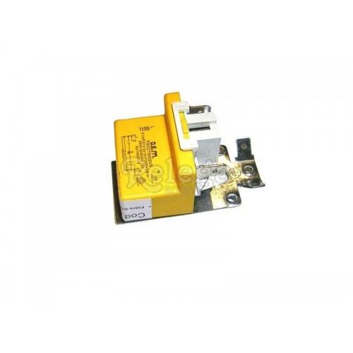 Filtro antiparasitario 0 10mf 16 A terminales 2+2 P5 con brida y clip simple
