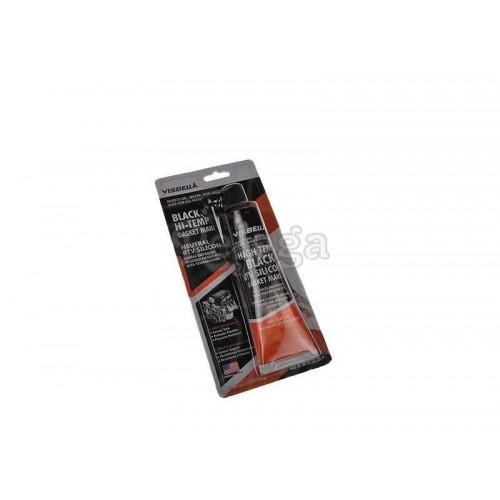 Silicona hasta 315ºC negra, con aplicador
