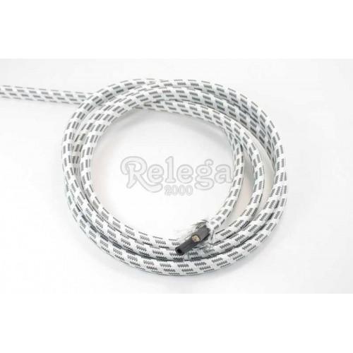 Cable 4 hilos  0 75mm + tubo vapor  4X8 gris por metro