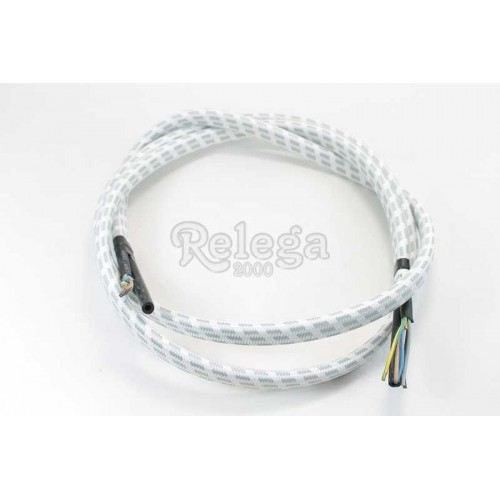Cable 5 hilos  0 75mm + tubo vapor  4X8mm 2 metros gris unidad