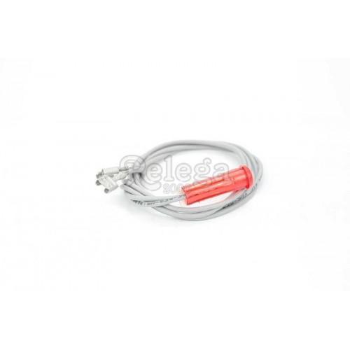 Piloto luz ENE FAGOR EW131. Diam.  9 mm rojo cables 440 mm