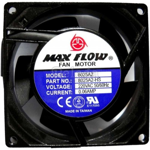 Motoventilador extractor axial 120X120X25mm