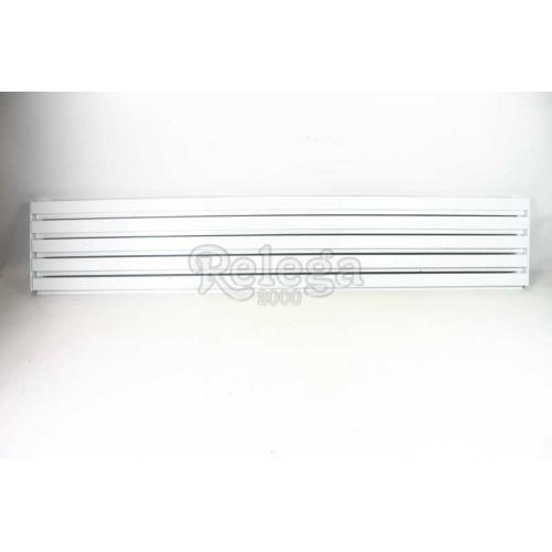Rejilla ventilación frigo aluminio blanco 13x60cm 5varillas