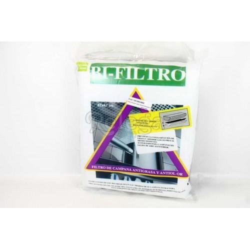 Filtro campana carbón antiolor+anti-grasa 57X47mm