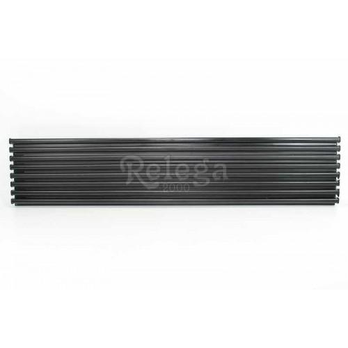 Rejilla ventilación frigo aluminio negra 60cm