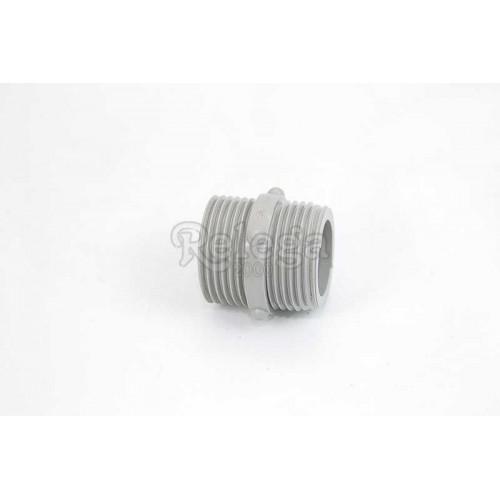 Racord unión 2 tubos entrada 1/4X1/4