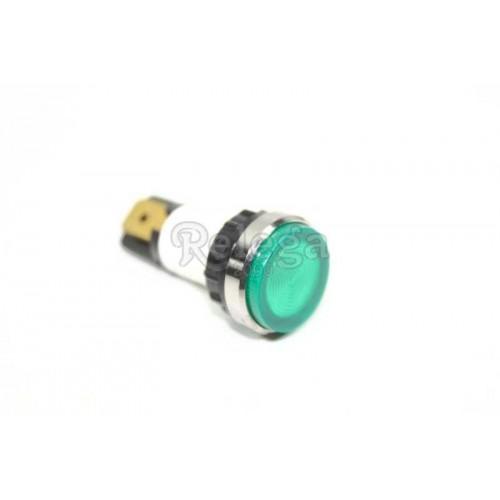 Piloto luz. Diam.  12 mm verde