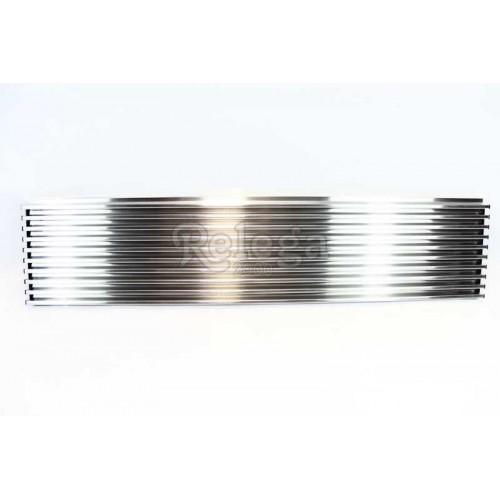 Rejilla ventilación frigo inox aluminio 60cm