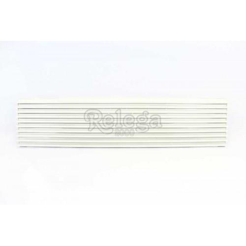 Rejilla ventilación frigo aluminio blanca 60cm